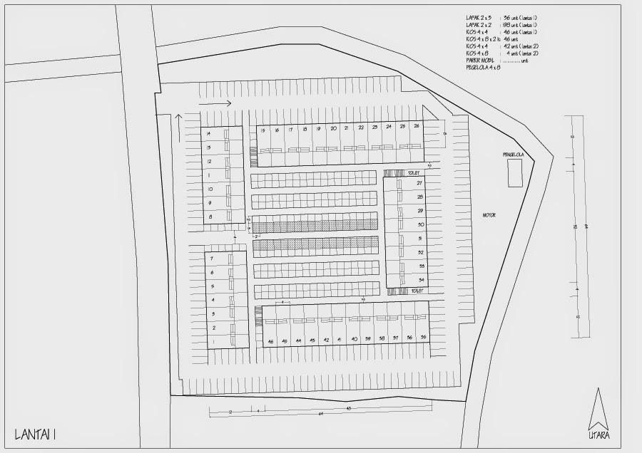 Sktesa site plan fasilitas pasar modern bagaimana for Modern site plan