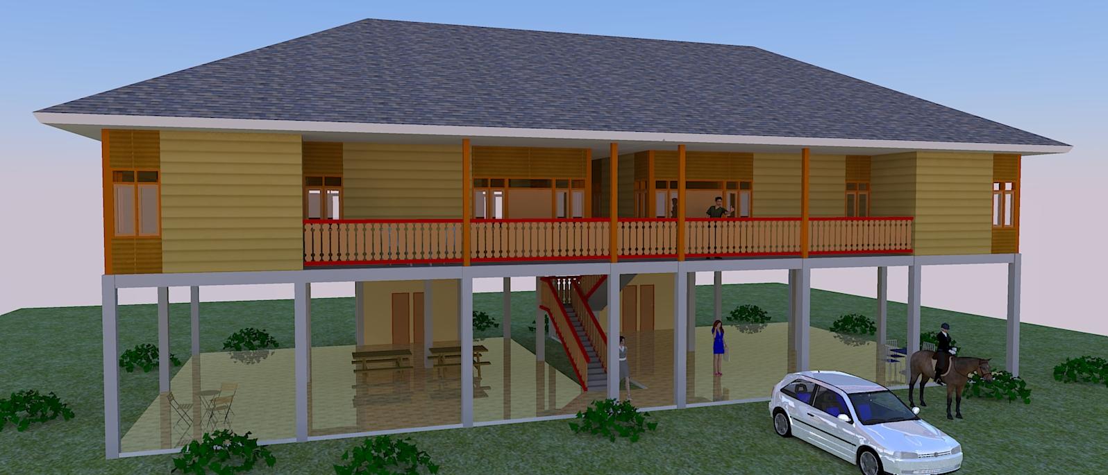 Rumah Kayu Kavling Kebun Bagaimana Membuat Site Plan
